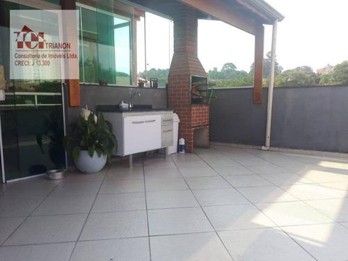 Cobertura Com 2 Dormitórios À Venda, 88 M² - Com Planejados - Por R$ 345.000 - Vila Guiomar - Santo André/sp - Co0911