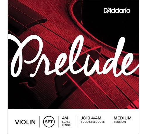 Imagen 1 de 6 de Violin Daddario Prelude Encordado  Medium 1/4 J810 1/4m
