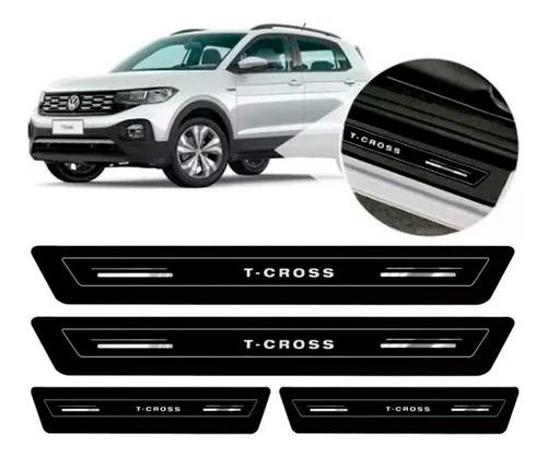 Soleira De Porta Platinum Volks T-cross 2019 2020 - Preto