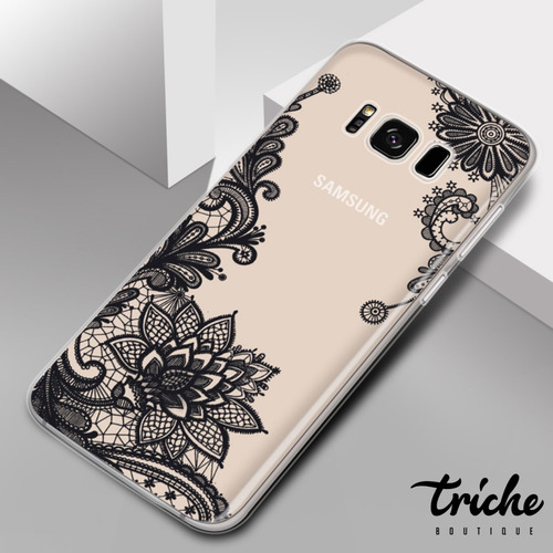 Imagen 1 de 2 de Funda Transparente Flor Mandala Flexible Galaxy S8 Plus S8+