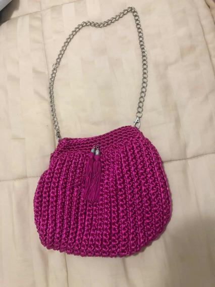 Bolsa Pink Crochê