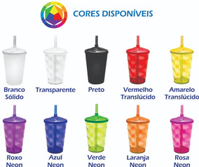 Kit 50 Copo Twister Shake 500ml Com Tampa E Canudo