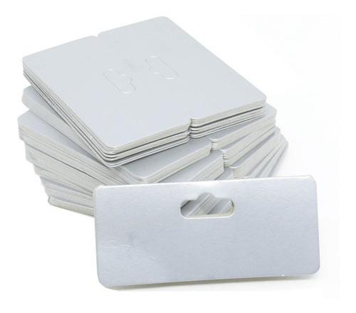 1000 Cartela De Papel P/ Saquinhos Transparentes 8 X 9 Cm