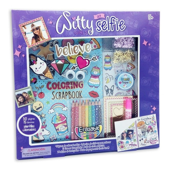 Witty Girls Selfie Album Scrapbook Deco Diy Washi Tape 326