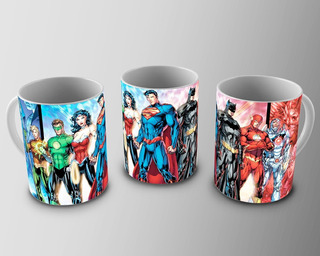 Caneca De Porcelana Justice League Hq