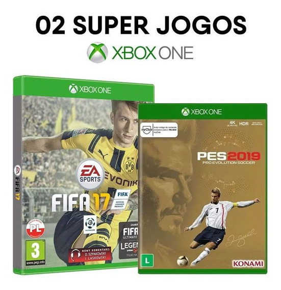 Fifa 17 + Pes 2019 Ed. David Beckham Xbox One - Originais