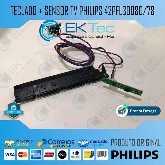 Kit Sensor + Teclado Tv Philips 42pfl3008d/78 Original
