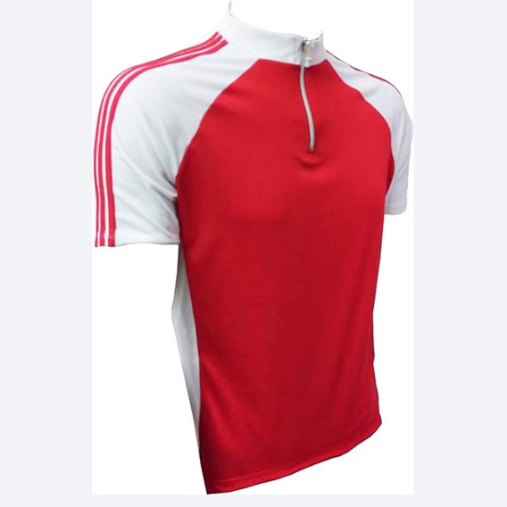 Camiseta Para Ciclismo Zíper Curto Bolso Na Costa