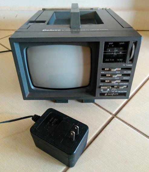 Deluxe 5 Portable B/w Tv-am/fm Rádio Para Retirada De Peças