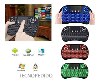 Mini Teclado Retroiluminado Pc Play Mouse Tv Android Laptop