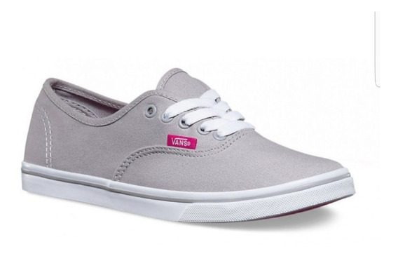 Vans Authentic Low Pro Gris/rosa Orivinales Dama Vn0004mmjqa