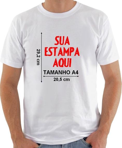 Kit 10 Camisas Personalizadas Com Sua Foto Ou Frase