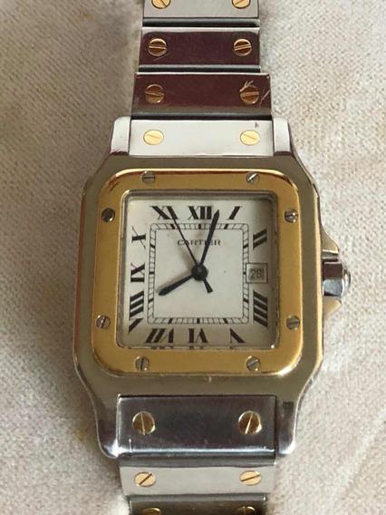 Cartier Santos Ouro E Aço