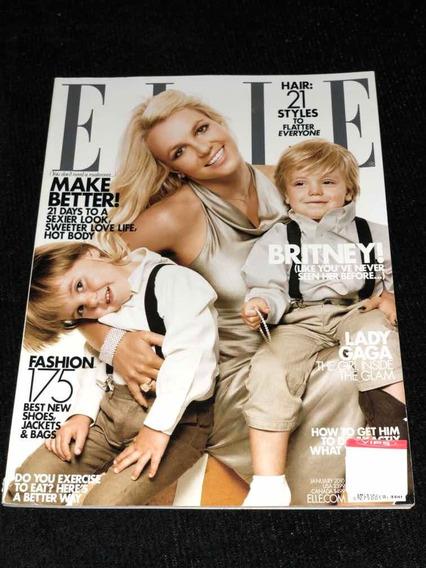Revista Elle Britney + Lady Gaga 2009 Importado Usa