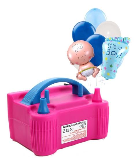 Bomba Eléctrica Inflar +5 Globos Baby Shower Niño Gratis
