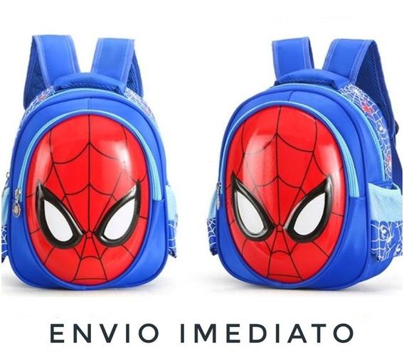 Mochila Infantil Bolsa Spiderman 3d Impermeavel Homem Aranha