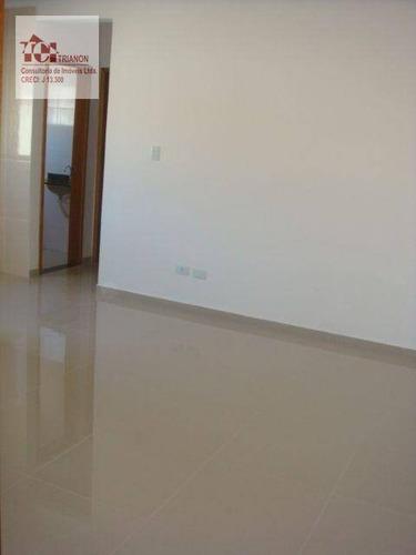 Apartamento Com 2 Dormitórios À Venda, 50 M² Por R$ 262.000,00 - Vila Alzira - Santo André/sp - Ap2367