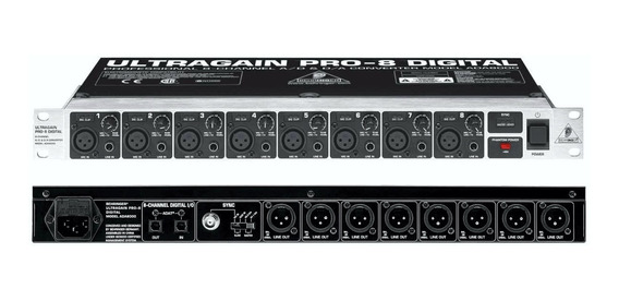 Behringer Ultragain Pro 8 Digital Ada8000 Conversor Adat