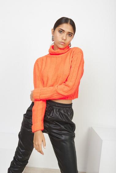 Sweater Rythim Cropp Con Cuello Polera Mujer 47street