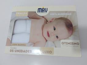 Fralda De Pano Luxo Branca C/bainha 70x65 Caixa C/5 Unidades