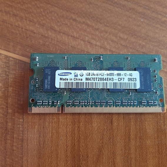 Memoria Ram Ddr2 De 1gb 2rx8 Pc2 6400u 666 12 E3 Samsung