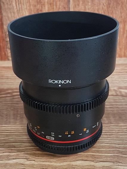 Lente Rokinon 85mm / 1.5 T-cine Para Canon