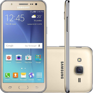 Samsung J5 Dourado 16gb + Acessórios Pronta Entrega..