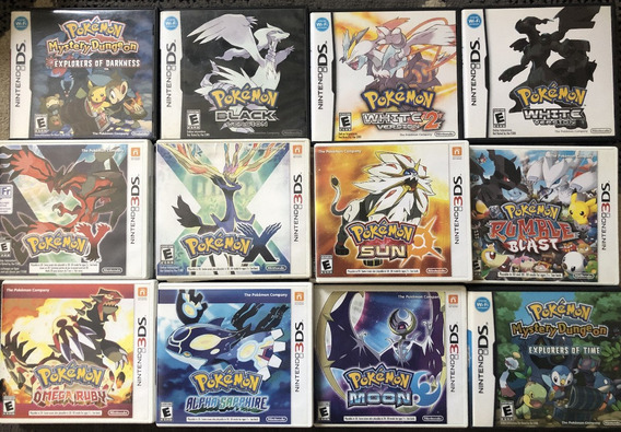 Pokemon Nintendo 3ds E Ds - X - Alpha Sapphire - Sun - Black