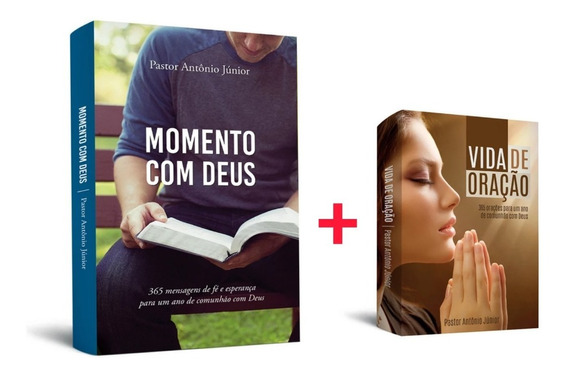 1 Livro Momento Com Deus + 1 Livro Vida De Oração