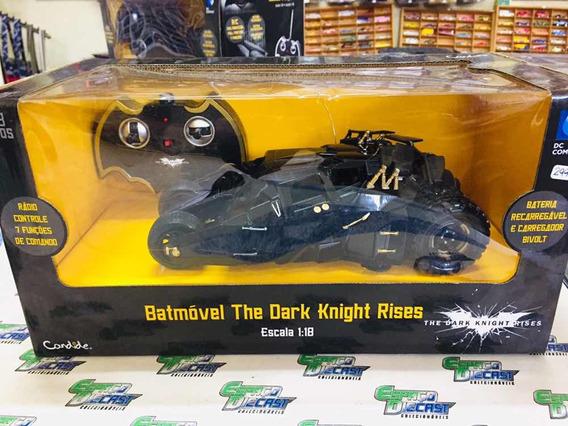 Batmóvel Dark Knight Rises Batman 1/18 Controle Candide