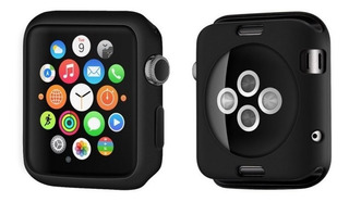 Case Flexível Gel Proteção Apple Watch 1 2 3 42mm Preto