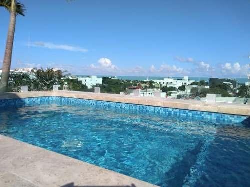 En Renta Espectacular Y A Estrenar Moderno Ph Con Roof En Edificio Palmarenas, Playa Del Carmen P301