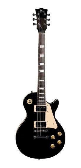 Guitarra Les Paul Michael Gm-730n Bk Preta