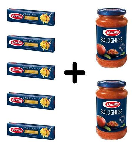Imagen 1 de 1 de Fideos Barilla Spaghettoni 5 Paquetes + 2 Salsas Bolognesa