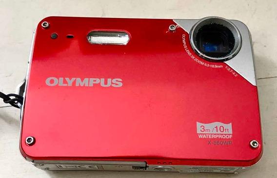 Câmera Fotográfica Olympus X-560wp Para Até 3 M Profundidade