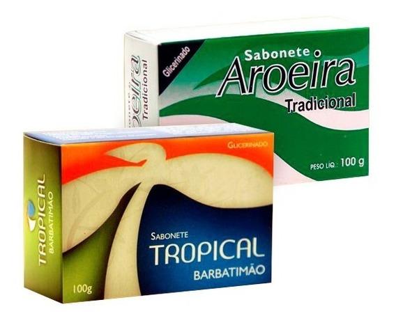 50 Sabonetes Em Barra Tropical Barbatimão + Aroeira Atacado
