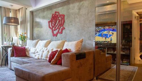 Imagem 1 de 27 de Apartamento Mobiliado E Decorado Com 3 Dormitórios Próximo Ao Mercado Publico - Ap5755