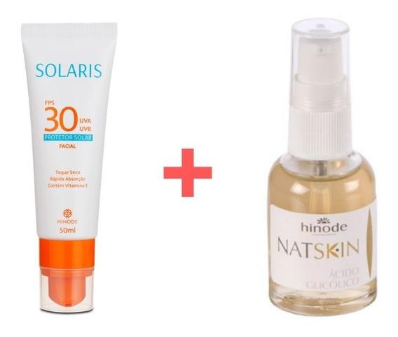 Protetor Solar Facial + Ácido Glicólico 6% Peeling Clareador