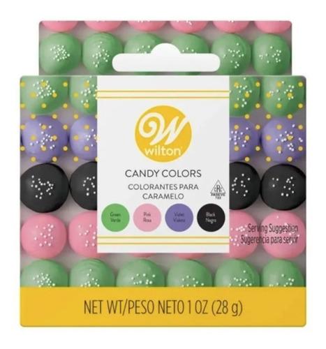 Imagen 1 de 6 de Colorante Liposoluble Para Chocolate Gel Jardin X4 Wilton