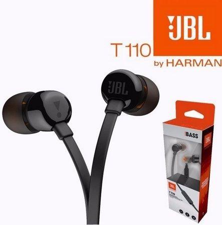 Fone Jbl T110 Preto Intra Auricular Kit Comunicacao