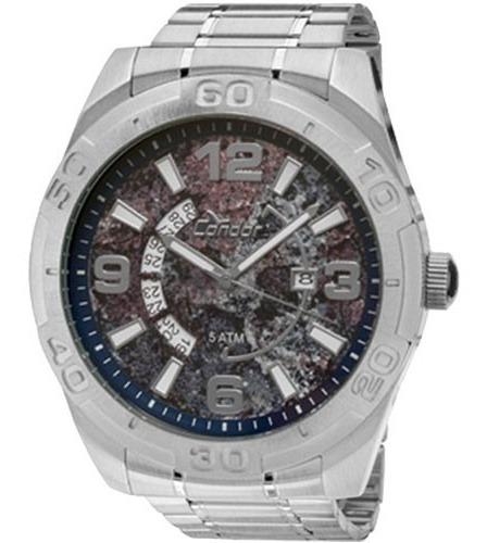 Relógio Masculino Co2315am/3c Analógico Prata Grande Vitrine