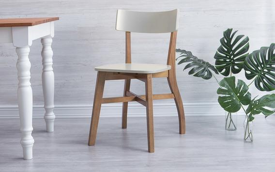 Cadeira Para Escrivaninha Bella Amendoa E Off White