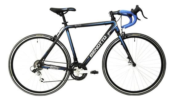 Bicicleta Benotto 570 Ruta Alum R700c 14v Shim Negra/azul 51