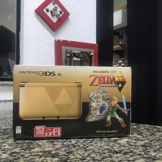 Nintendo 3ds Xl The Legend Of Zelda Dourado Com Preto
