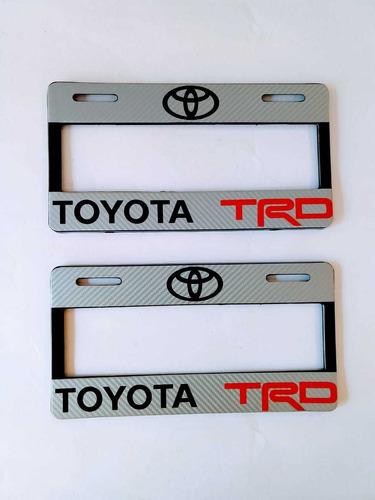 Imagen 1 de 2 de Par Porta Placas Toyota Trd