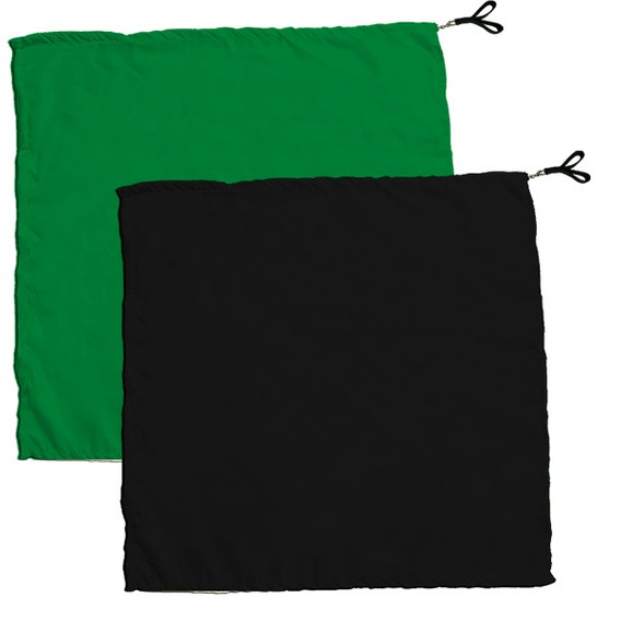 Swing Flag Quadrado Verde Escuro E Preto - Vendido Por Par