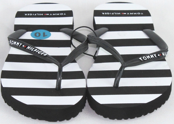 Sandalia Para Dama Tommy Hilfiger Mod3 Negra (oferta)