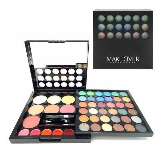 Makeover Set Maquillaje Sombras Ojos Rubor Labiales Jes-237