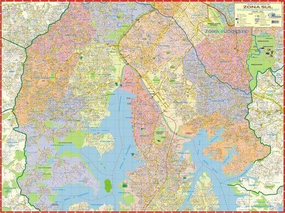 Mapa Zona Sul De São Paulo-sp Multimapas 120x90