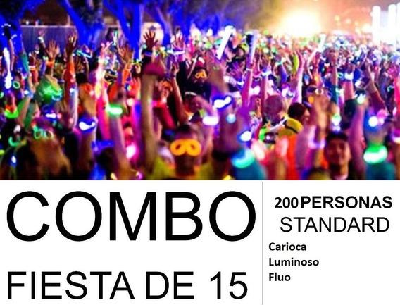 Combo Cotillon Luminoso Led Neon Carioca Fiesta 15 200 Inv